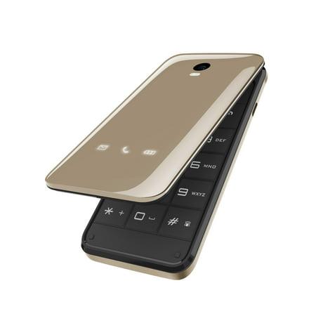Blu DIVA Flip T390X GSM Flip Phone - Gold (Best Unlocked Flip Phone)