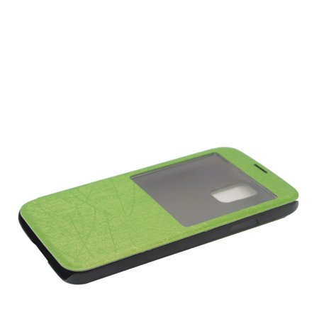 Insten Flip Leather Fabric Cover Case For Samsung Galaxy S5 - Green - image 1 de 4