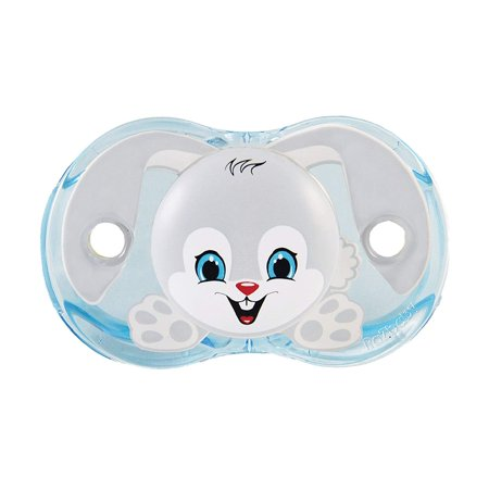 Ziggy Bunny Keep-It-Kleen Orthodontic Pacifier, Nipple stays clean - closes when dropped By - Binky Bunny