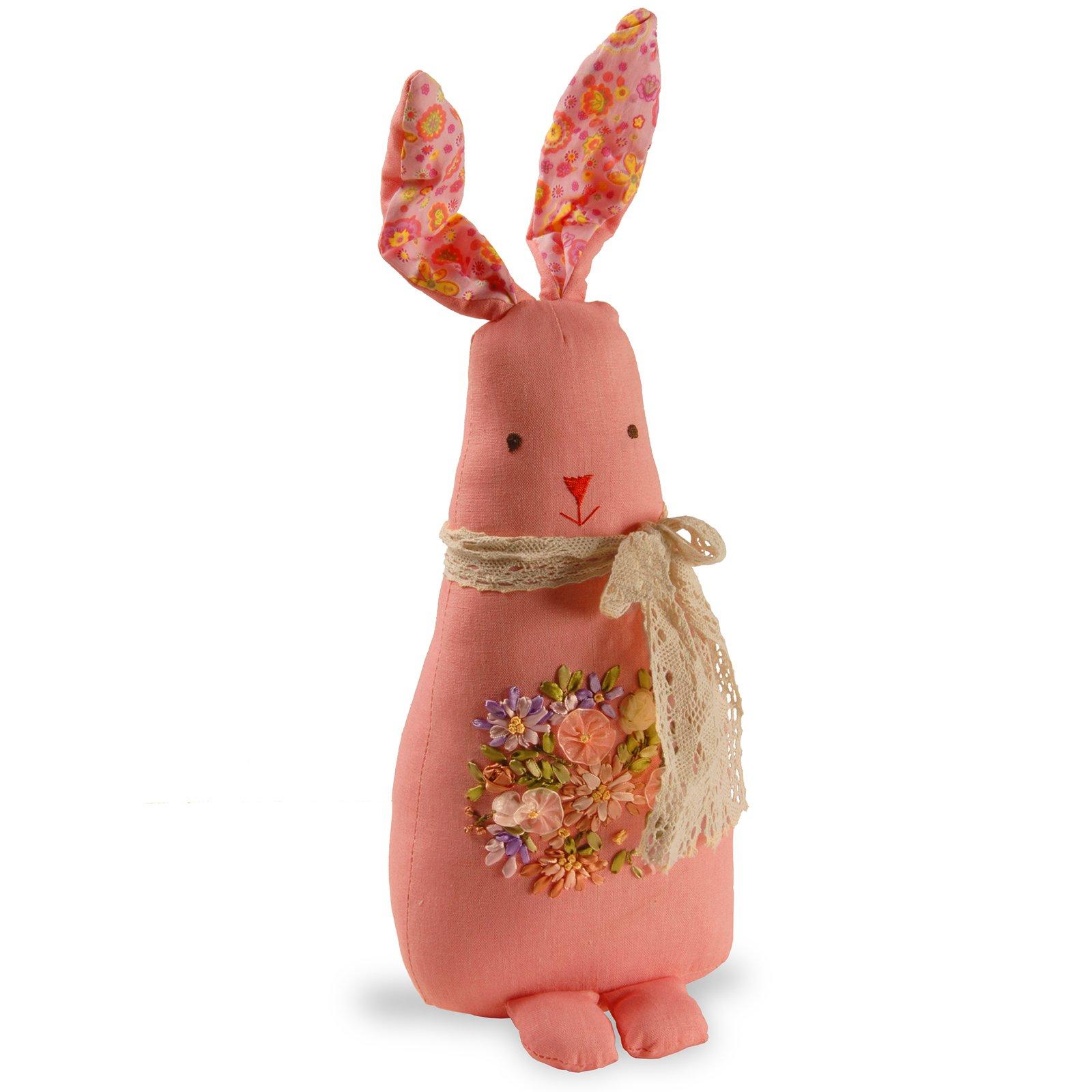 "20"" Garden Accents Fabric Pink Rabbit"