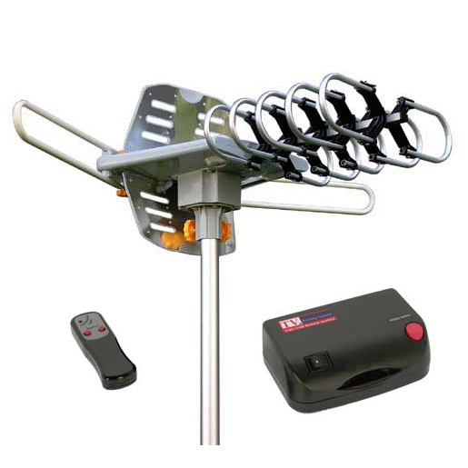 HDTV Outdoor Antenna w/Rotor & Remote