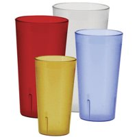 Winco Pebbled 12 Piece Plastic Assorted Glassware Set (Set of 12)