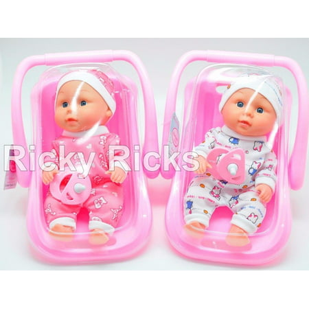1 Small Talking Baby Doll Carrier Girl Pink Toy Seat Kids Toddler Cute Birthday Gift