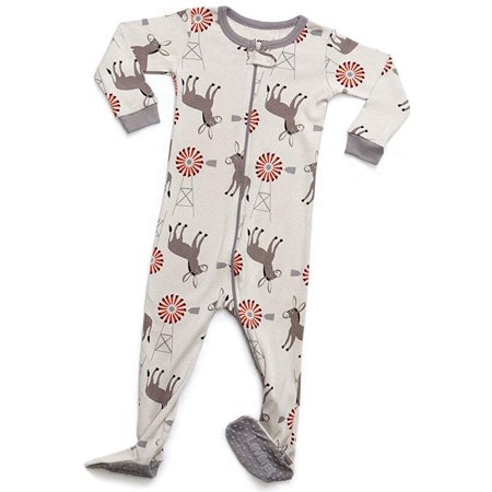 Leveret Organic Cotton Donkey Footed Pajama Sleeper 12-18 Months