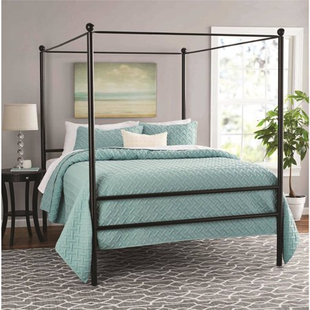 Mainstays Metal Canopy Bed, Multiple Colors, Multiple Sizes - Walmart.com
