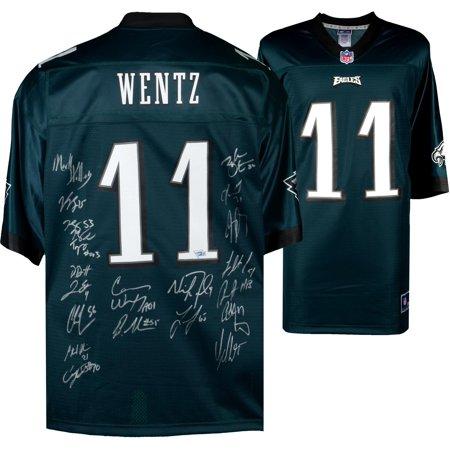 sale retailer c113f 63631 Philadelphia Eagles Super Bowl LII Champions Autographed Carson Wentz Green  NFL Pro-Line Jersey with Multiple Signatures - Fanatics Authentic ...