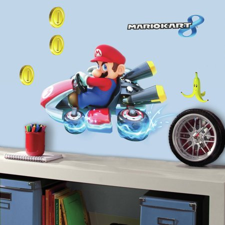 RoomMates Mario Kart 8 Peel and Stick Giant Wall (Macro Home Decor)
