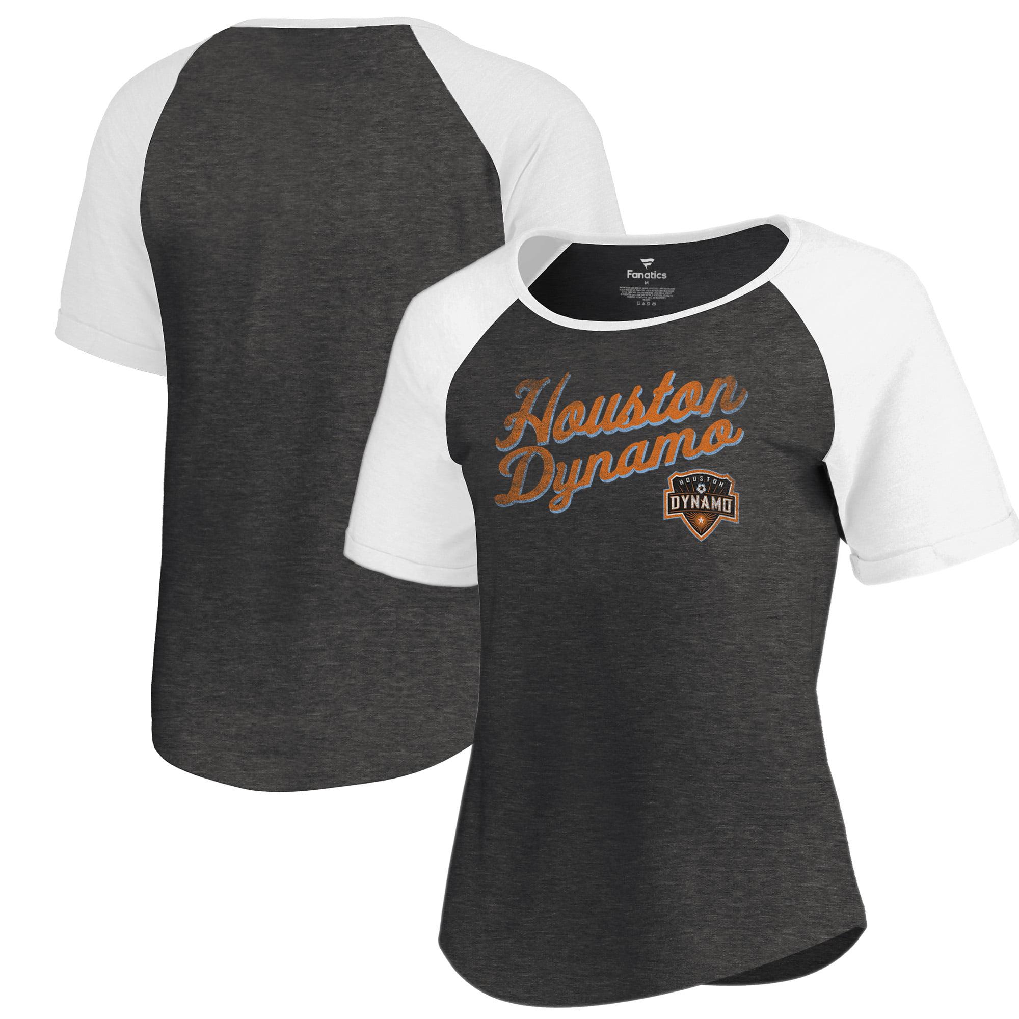 Houston Dynamo Fanatics Branded Women's Rising Script Raglan Tri-Blend T-Shirt - Black
