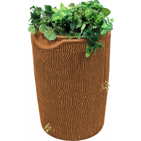 Impressions 50-Gallon Bark Rain Saver, Terra Cotta