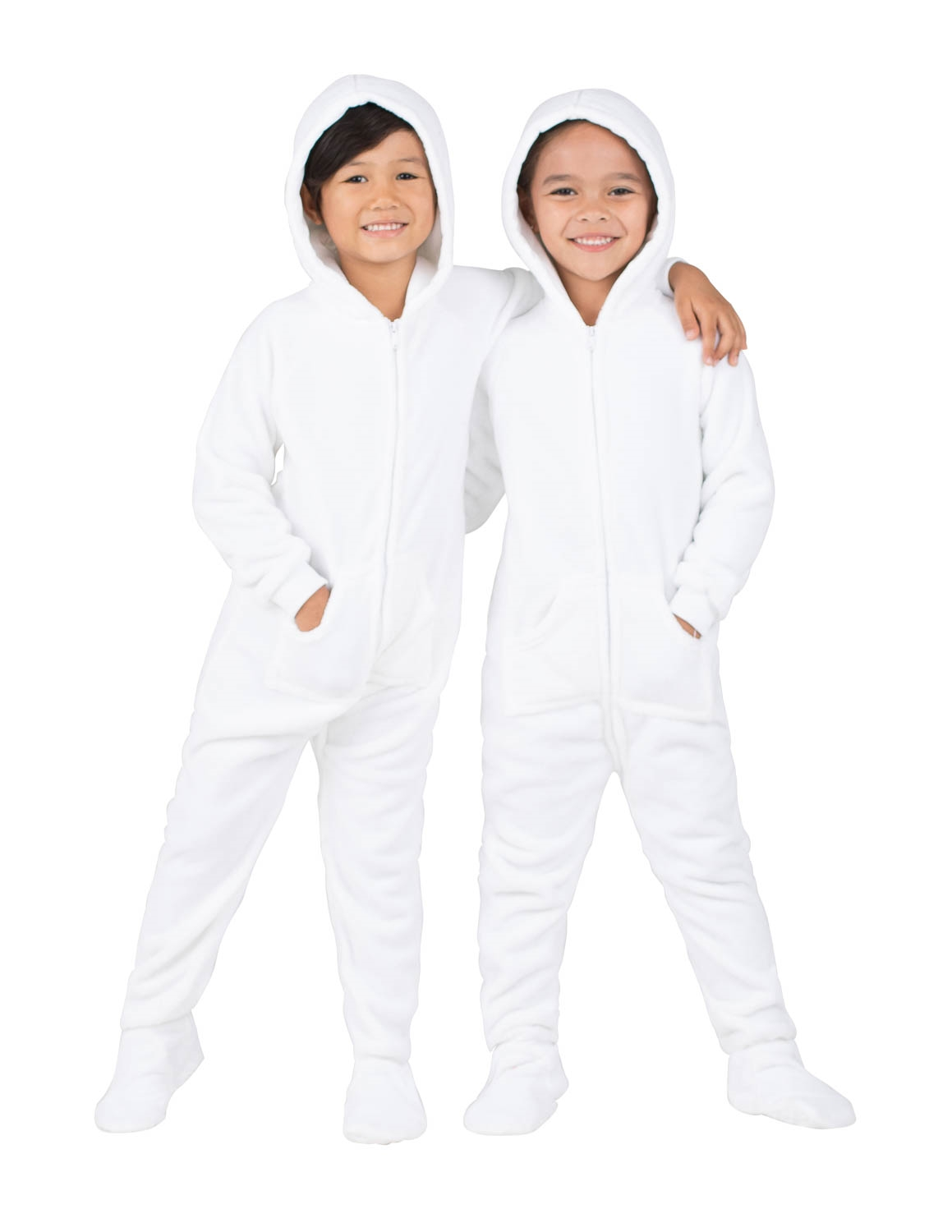 2f4d4d9c2 Footed Pajamas - Footed Pajamas - Arctic White Toddler Hoodie Fleece ...