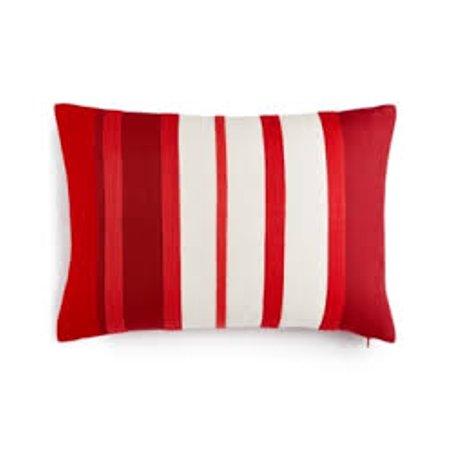 Martha Stewart Collection Rich Red Stripe Decorative Pillow Size 14