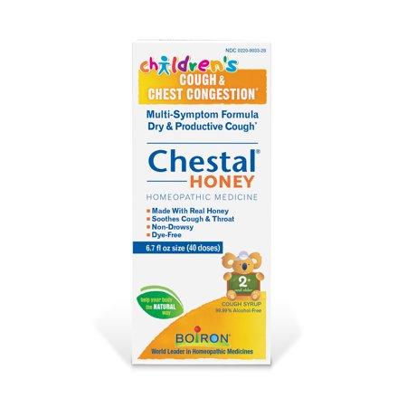 Boiron Chestal Children's Honey Cough & Chest Congestion Relief, 6.7 Fl Oz