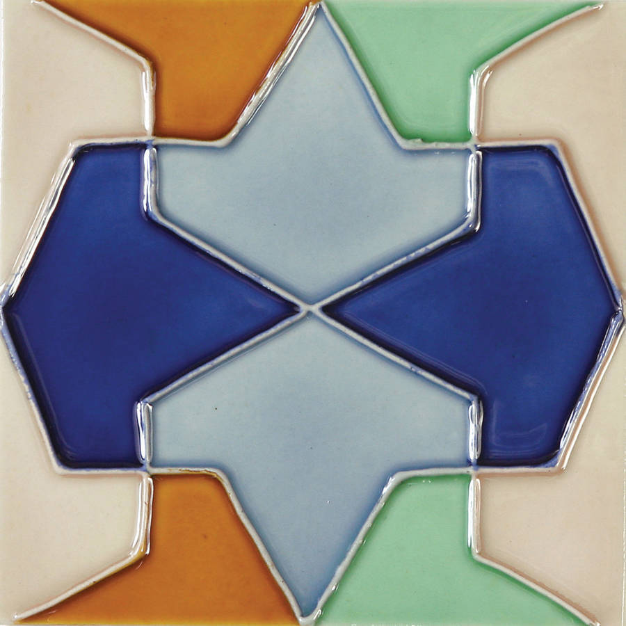 "Solistone Conos 6"" x 6"" Hand-Painted Ceramic Deco Wall Tile (Price per Case of 10)"