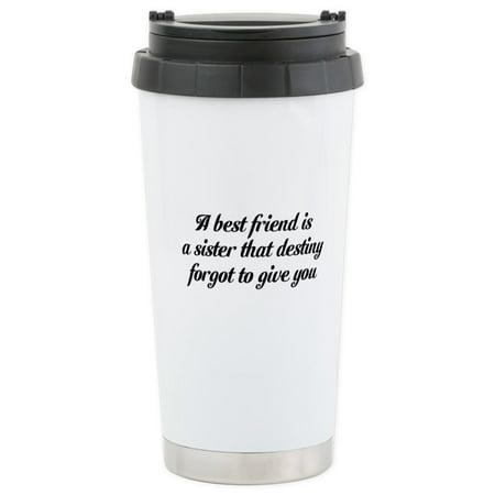 CafePress - Best Friends Stainless Steel Travel Mug - Stainless Steel Travel Mug, Insulated 16 oz. Coffee