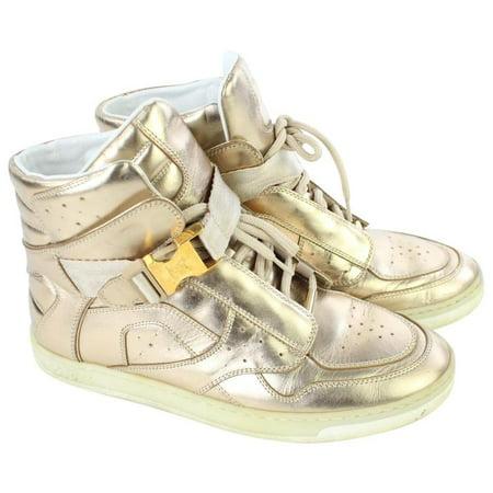 Louis Vuitton Metallic High-top Sneaker 4lj928 GOLD Athletic Shoes