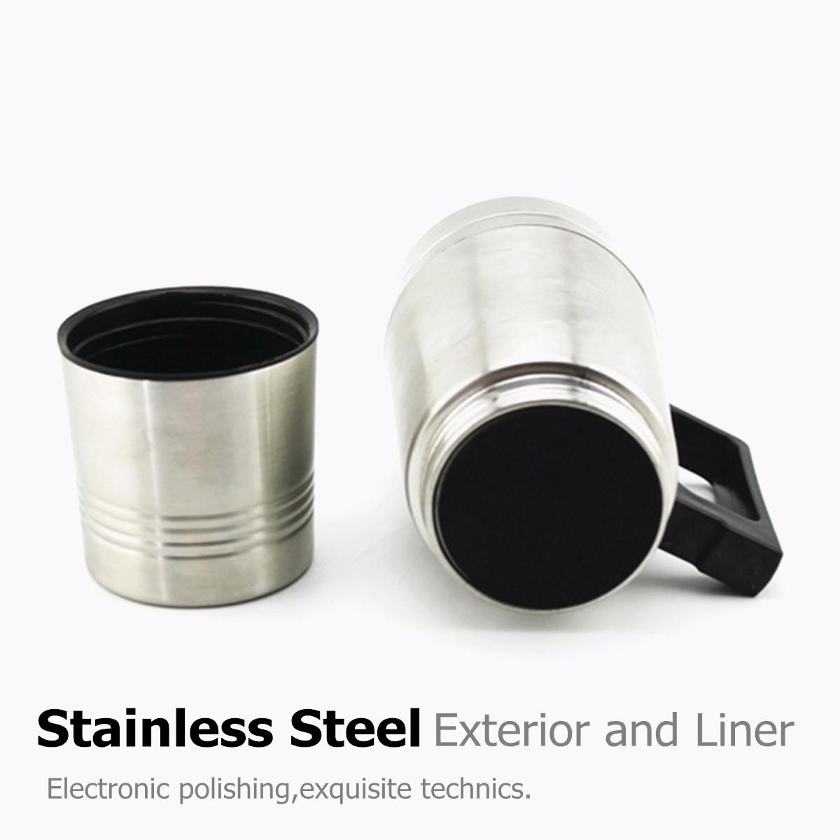 Stainless Steel 12v 300ml Car Auto Heating Kettle Boiler