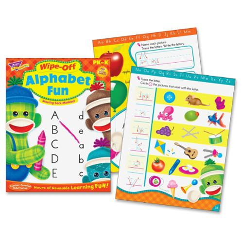 Trend Alphabet Fun Sock Monkeys Book Learning Printed Book - Book - 28 Pages (tep-94118)