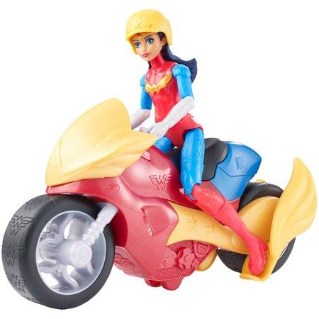 Dc Super Hero Girls Wonder Woman  Motorcycle Dolls