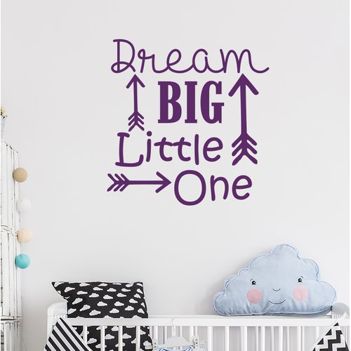 Harriet Bee Baumeister Dream Big Little One Wall Decal