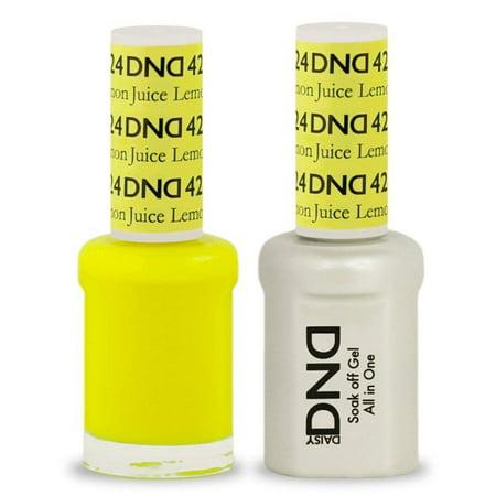 DND Soak Off Gel Polish Dual Matching Color Set 434, Gulf Stream, DND Soak Off Gel Polish Dual Matching Color Set 424, Lemon Juice By DND Duo Gel