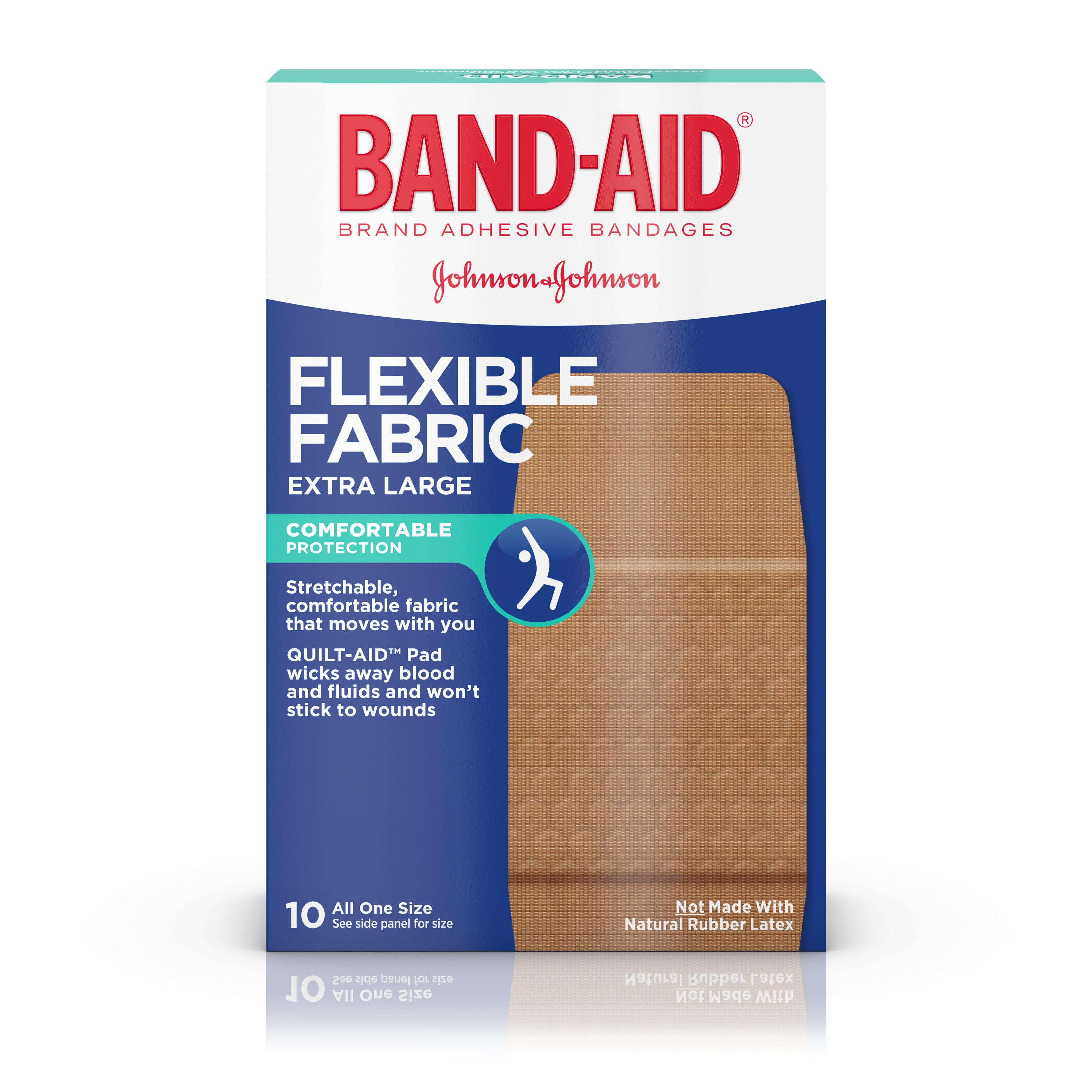 Band-Aid Brand Flexible Fabric Adhesive Bandages, Extra Large, 10 ct