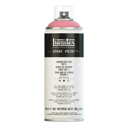 Liquitex Professional Spray Paint, 400ml, Cadmium Red Deep Hue 6