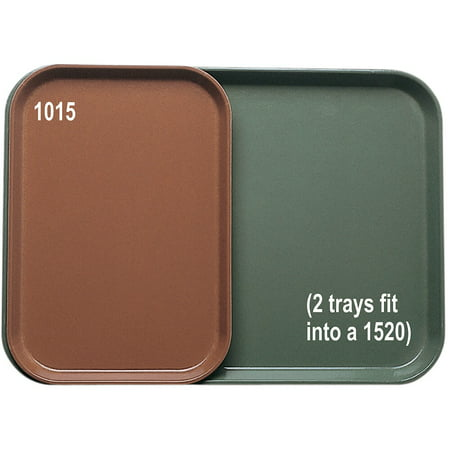 "Cambro Insert Trays for 15"" x 20"" Trays, 24PK, Olive Green, 1015-428"