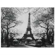 "Oriental Furniture Eiffel Tower Park Canvas Wall Art, 31.5""W x 1""D x 23.5""H"
