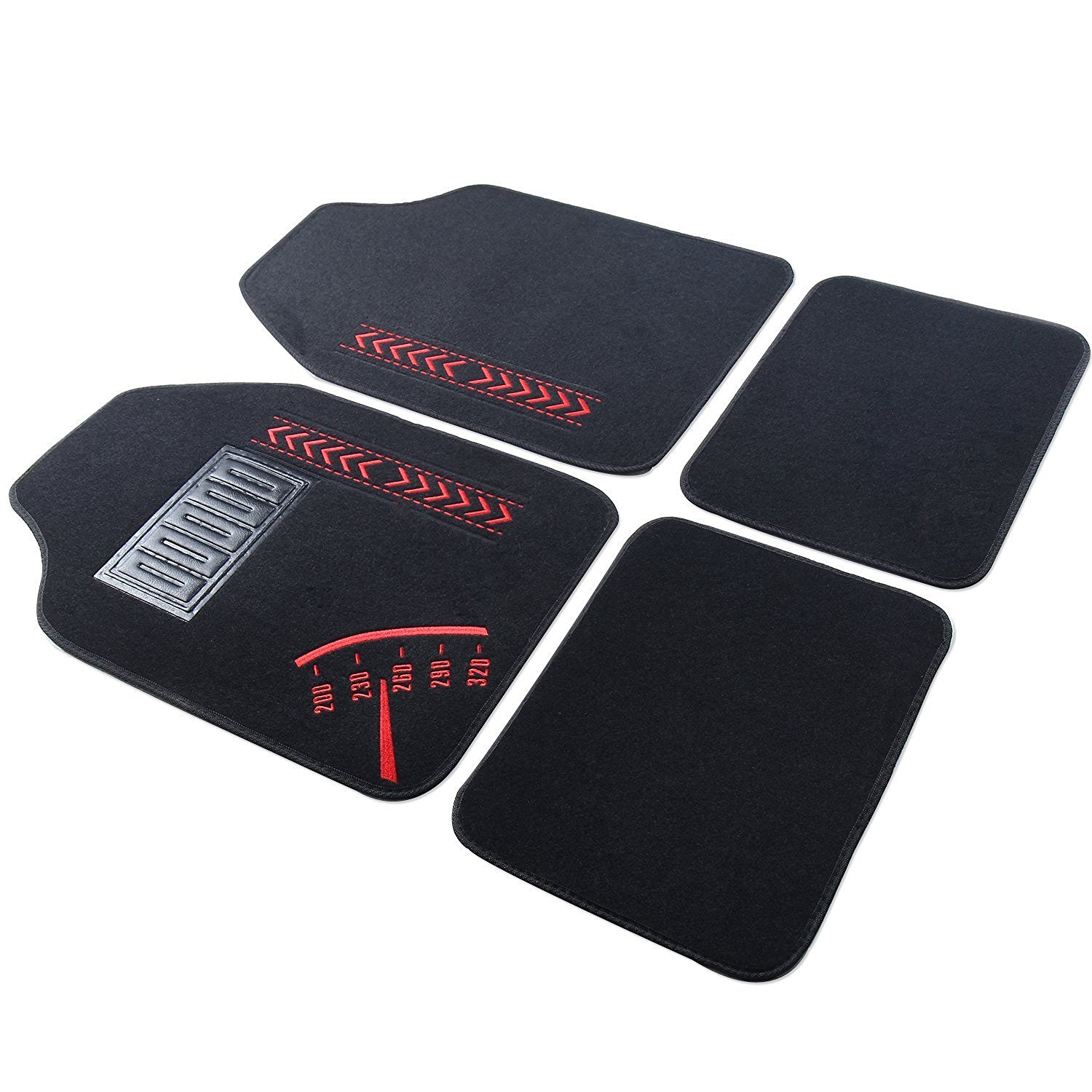Adeco 4-Piece Car Vehicle Universal Floor Mats by Adeco Trading