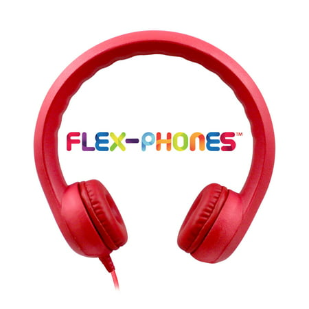 HamiltonBuhl Flex-Phones Foam Headphones Red Grades Kindergarten to 3rd (Hamilton Stereo Headphone)