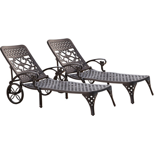 Home Styles Biscayne Chaise Lounge Chairs, Set Of 2