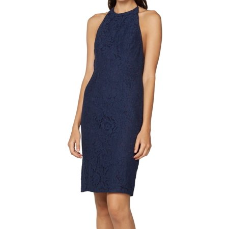 Fame and Partners NEW Navy Blue Womens 0 (AUS 4) Lace Sheath (Blue Womens Dress)
