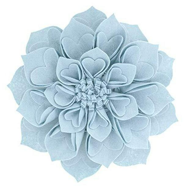 "Fennco Styles 3D Heart Shaped Flower Petals 16/"" Round Decorative Throw Pillow"