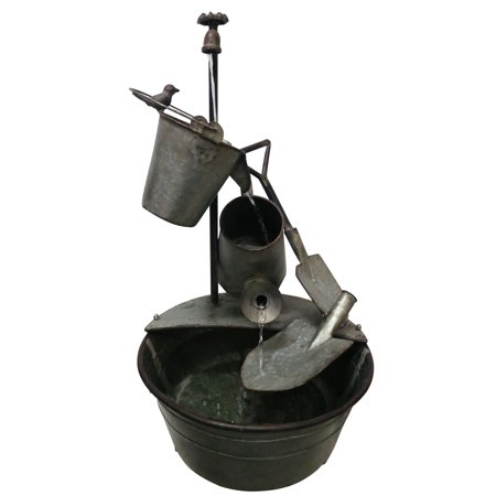28 Inch Metal Tiered Garden Tools Fountain ()
