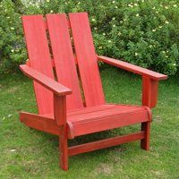 Pemberly Row Large Adirondack Patio Chair in Red by Pemberly Row