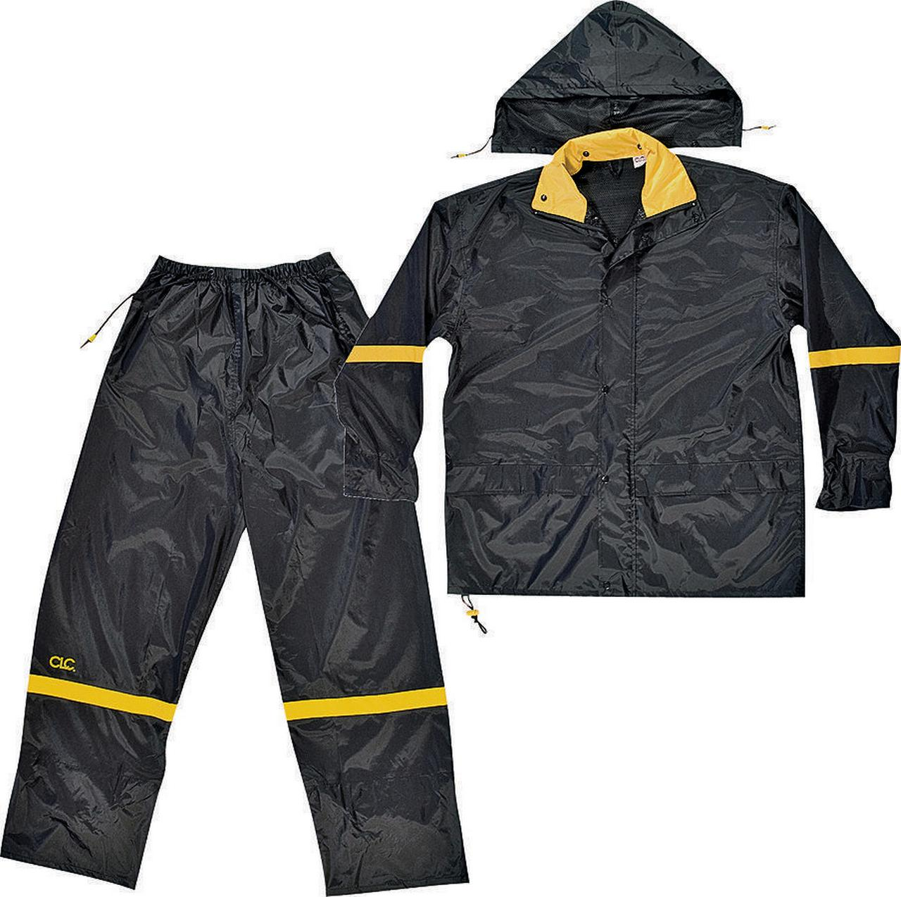 Custom Leathercraft Large Black Nylon Rain Suit Set, 3pk by Custom Leathercraft