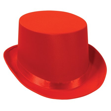 Beistle Christmas Deluxe Ribbon Old-Fashioned Top Hat, Red, One Size 23