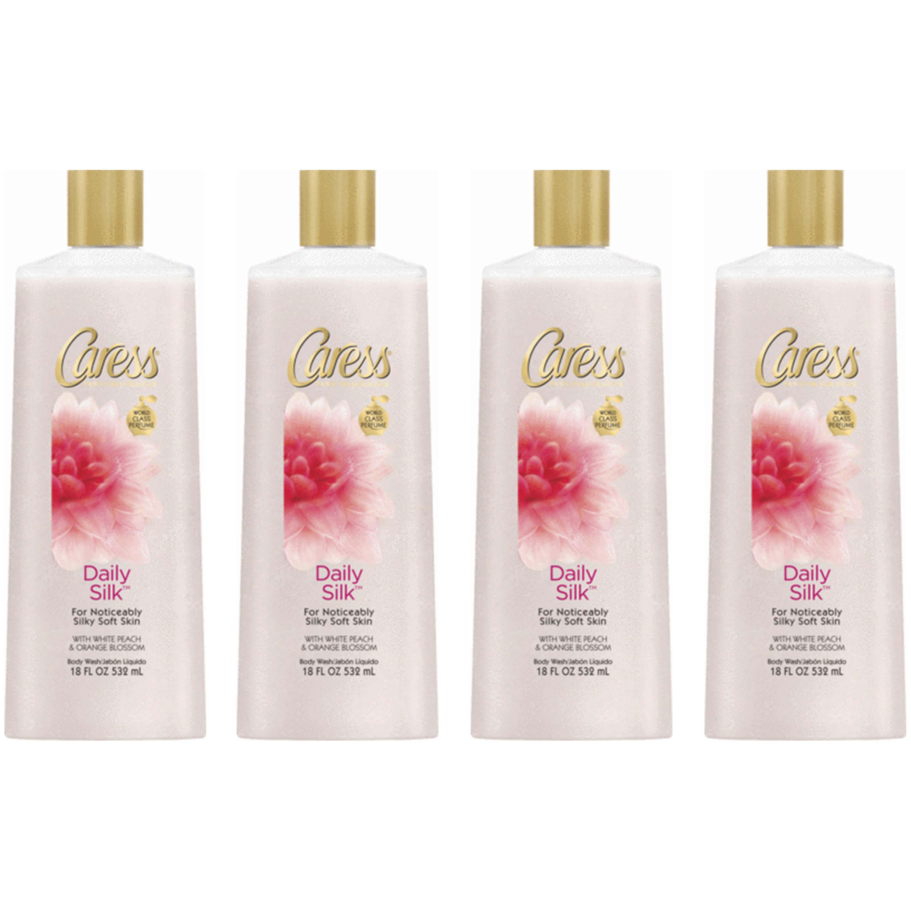Caress Daily Silk Body Wash, 18 oz, 4 Count