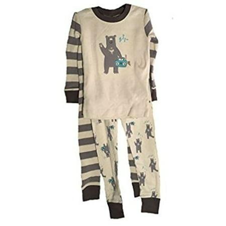 Little Me Baby Boys 3 Toddler 3 Piece Pajama Set, Organically Grown Cotton (6, Cream) Birthday Boy Hoodies Cream