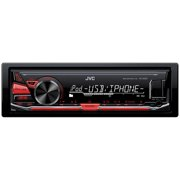 JVCM KD-X230 Single-DIN In-Dash Mechless Digital Media Receiver with Front USB and Auxiliary Inputs