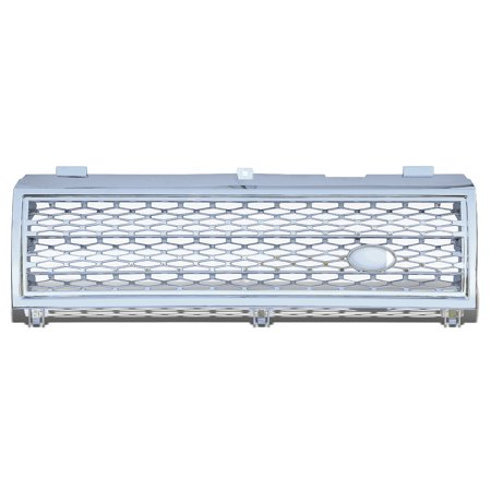 For 2003 to 2005 Range Rover HSE Sport ABS Plastic Mesh Front Bumper Grille (Chrome) - 3rd Gen L322 04