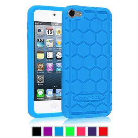 (Fintie iPod Touch 6 / iPod Touch 5 Case - [Kids Friendly] Shock Proof Anti Slip Silicone Protective Cover, Blue)