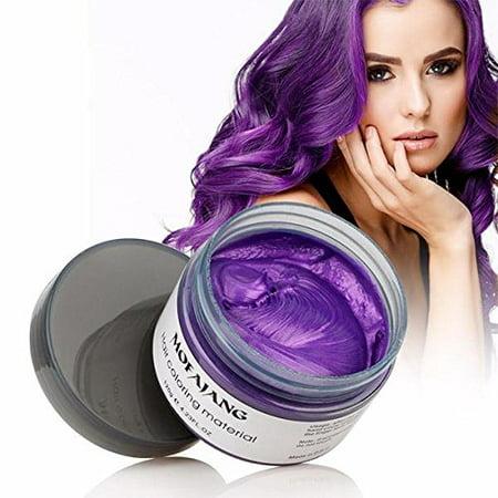 Mofajang Nice Temporary Hair Color Purple Easy to Rinse Out Hair Coloring  Mud Dye Cream