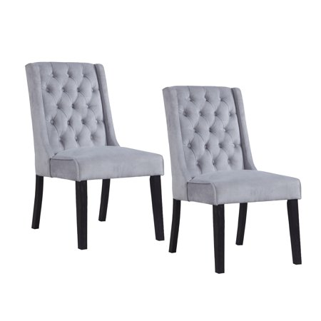 Best Master Furniture Newport Contemporary Tufted Wingback Dining Chair Set of 2,
