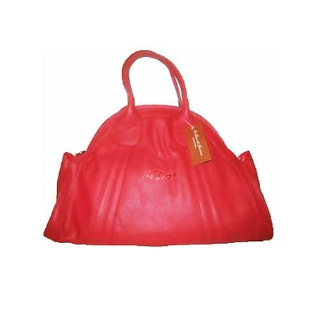 La Gioe Di Toscana Dome Red Leather Handbag Extra Large