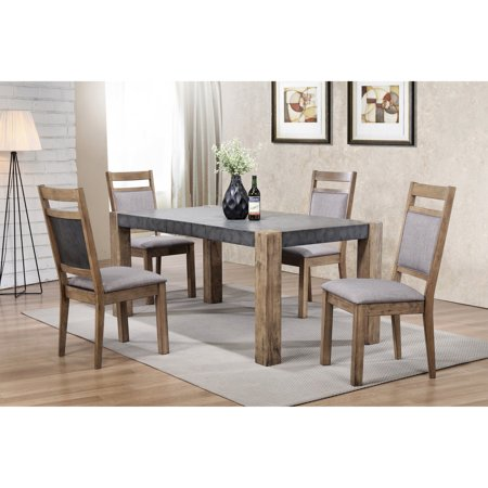 Roundhill Furniture Coella 5 Piece Two Tone Erfly Leaf Dining Table Set With Optional Server