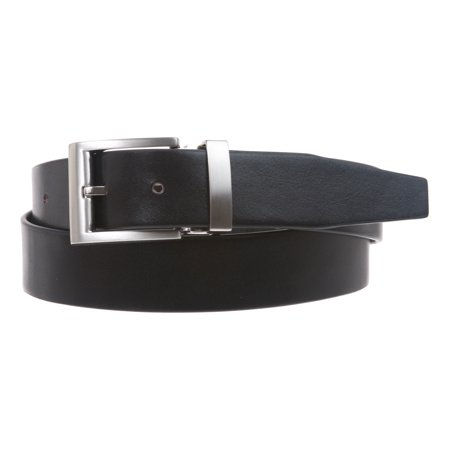 Men's 1 1/4 Inch (34 mm) Top Grain Cowhide Plain Leather Belt with Nickel Free Clamp (Men Cowhide Leather)