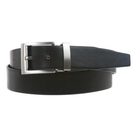 Men's 1 1/4 Inch (34 mm) Top Grain Cowhide Plain Leather Belt with Nickel Free Clamp (Cowhide Buckle)