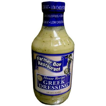 Farmer Boy Greek Dressing, House Recipe (16 oz)