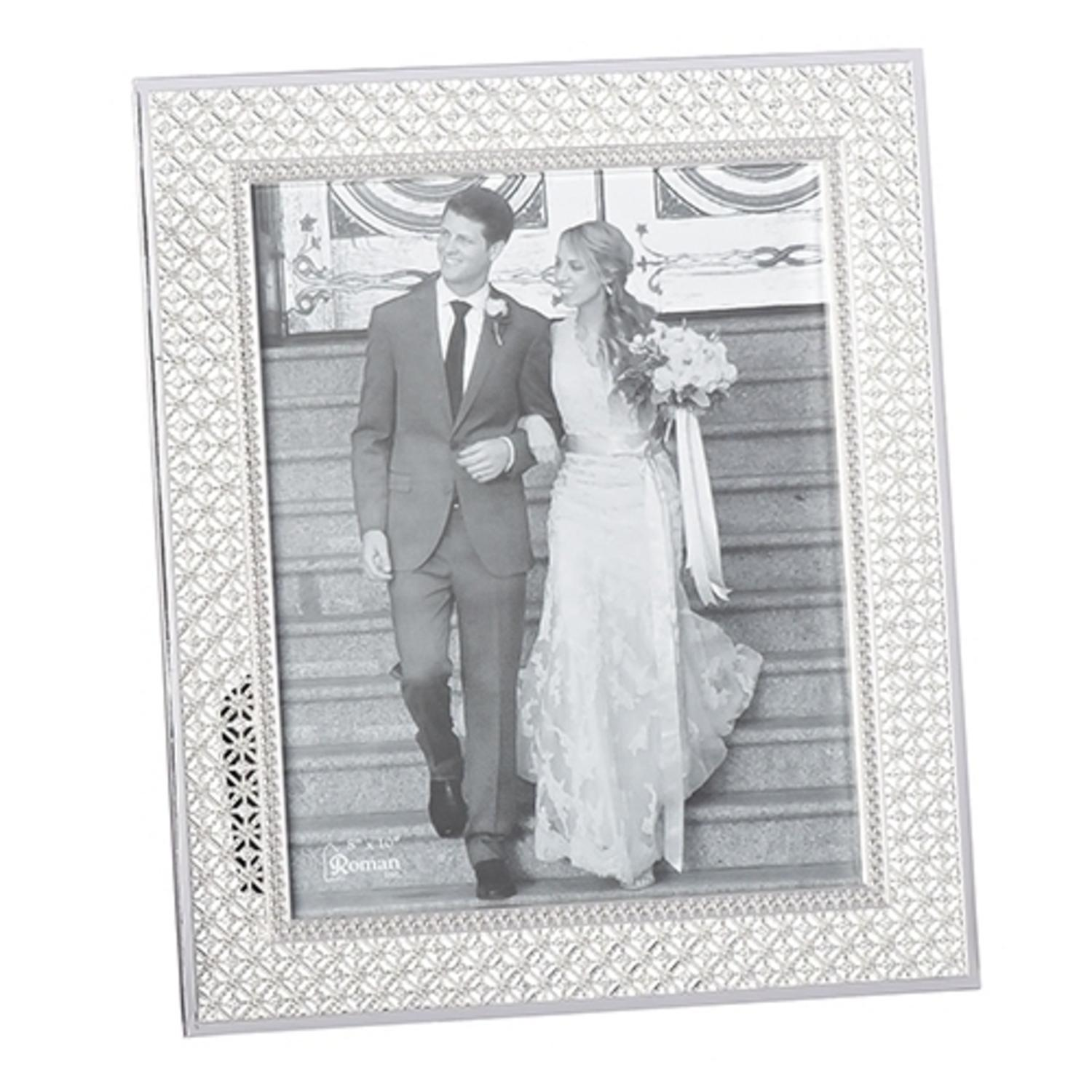 "Set of 2 Large Jeweled Decorative Wedding Picture Frames  8"" x 10"""